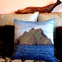 Skellig Michael photo pillow